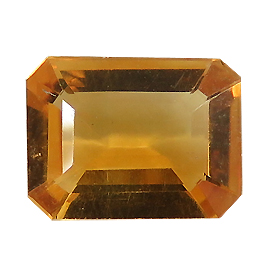0.98 ct Emerald Cut Citrine : Golden Orange