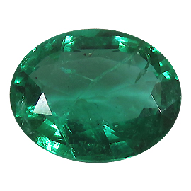 1.88 ct Oval Emerald : Deep Rich Green