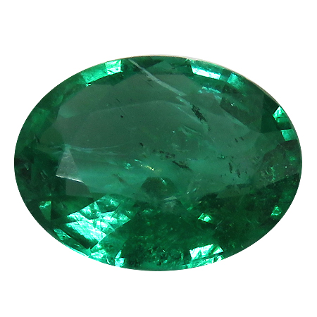 2.09 ct Oval Emerald : Rich Green