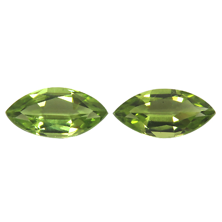 2.07 cttw Pair of Marquise Peridots : Fine Green