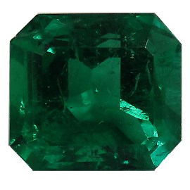 1.39 ct Emerald Cut Emerald : Rich Green