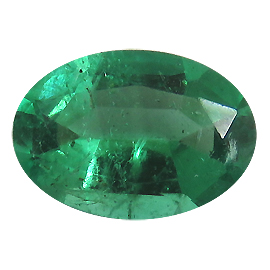 0.57 ct Oval Emerald : Rich Green