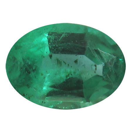 0.72 ct Oval Emerald : Rich Green