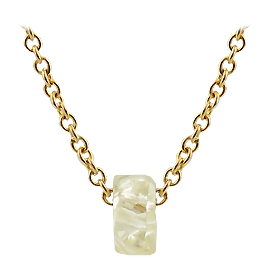 14K Yellow Gold Unisex Necklace : 0.80ct Rough Diamond
