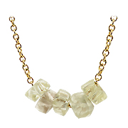 14K Yellow Gold 4.00 cttw Rough Diamonds Unisex Necklace