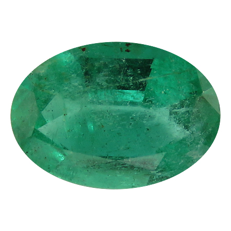 0.73 ct Oval Emerald : Rich Grass Green