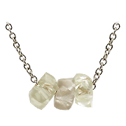 14K White Gold 2.50 cttw Rough Diamonds Unisex Necklace