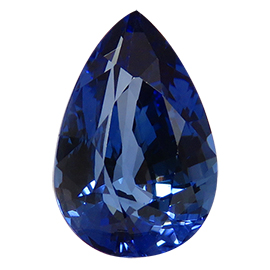 3.39 ct Pear Shape Blue Sapphire : Rich Blue