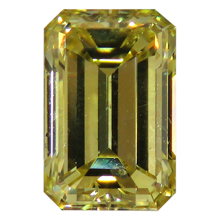 1.03 ct Emerald Cut Diamond : Fancy Intense Yellow / I1