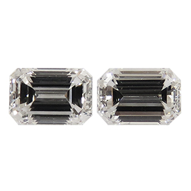 0.60 cttw Pair of Emerald Cut Diamonds : H / VS1