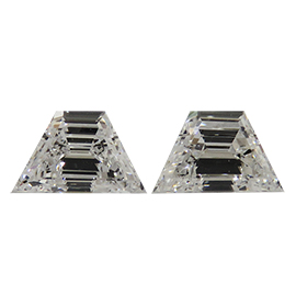 0.69 cttw Pair of Trapezoid Diamonds : E / VS2