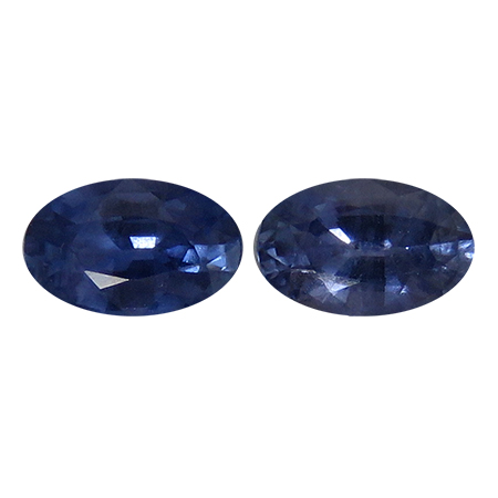 1.16 cttw Pair of Oval Blue Sapphires : Fine Blue