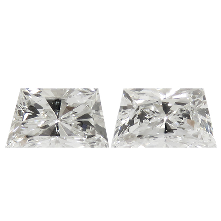 0.80 cttw Pair of Trapezoid Diamonds : F / VS1