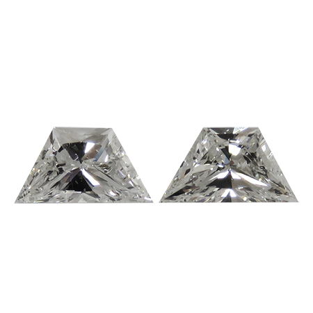 0.63 cttw Pair of Trapezoid Diamonds : G / VS2