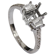 18K White Gold 0.65cttw Diamond Setting