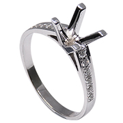 14K White Gold 0.15cttw Diamond Setting