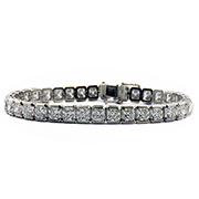 Platinum 18.90cttw Diamond Bracelet