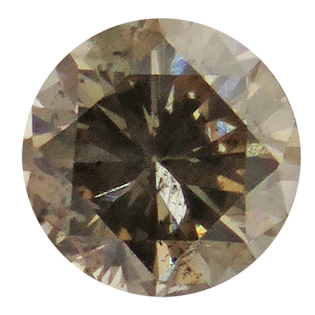 0.36 ct Round Diamond : Fancy Brown / I1