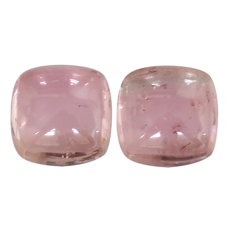 1.37 ct Pair of Radiant Tourmaline : Deep Darkish Pink