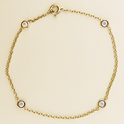 14K Yellow Gold 0.20cttw Diamond Bracelet