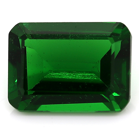 1.40 ct Emerald Cut Zircon : Deep Rich Green