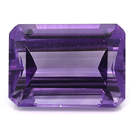 7.86 ct Emerald Cut Amethyst : Rich Purple