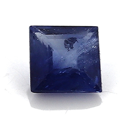 0.06 ct Princess Cut Blue Sapphire : Blue