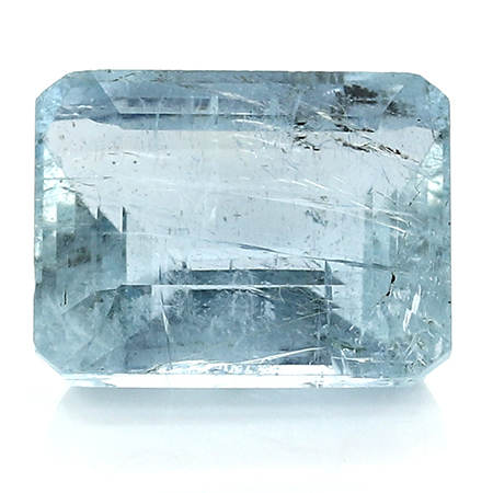 18.81 ct Emerald Cut Aquamarine : Fine Blue