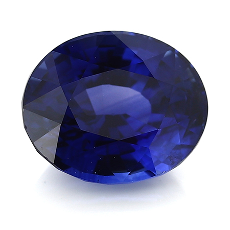 4.15 ct Oval Blue Sapphire : Rich Royal Blue