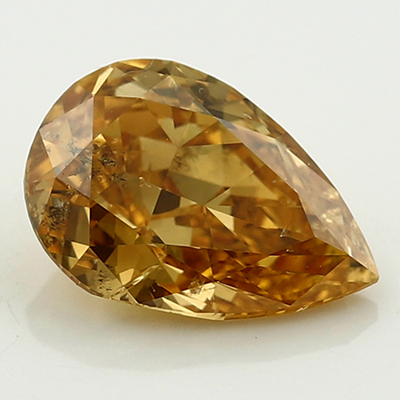 1.02 ct Pear Shape Diamond : Fancy Intense Orange Yellow / SI3