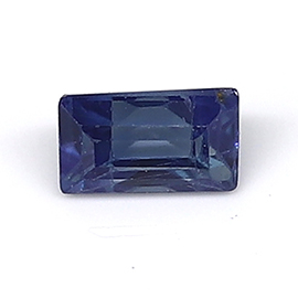 0.13 ct Baguette Blue Sapphire : Deep Darkish Blue
