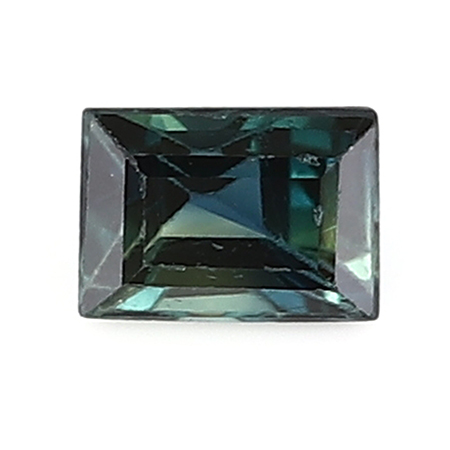 0.14 ct Baguette Blue Sapphire : Deep Darkish Blue