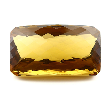 33.00 ct Emerald Cut Citrine : Orangish Brown