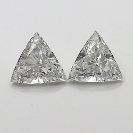 0.96 cttw Pair of Trillion Diamonds : F / VS2