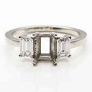 18K White Gold 3/4cttw Diamond Setting
