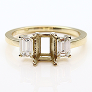 18K Yellow Gold 3/4cttw Diamond Setting