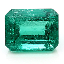 2.18 ct Emerald Cut Emerald : Rich Green