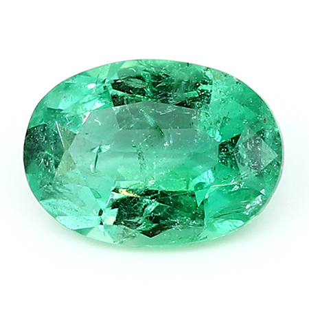 1.17 ct Oval Emerald : Deep Rich Green