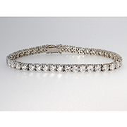 18K White Gold 13.00cttw Diamond Bracelet