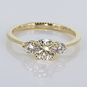 14K Yellow Gold 0.68cttw Diamond Ring