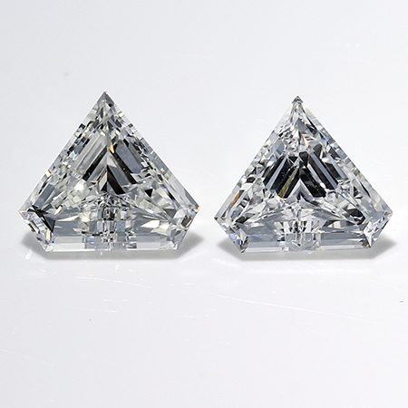 0.65 cttw Pair of Shield Diamonds : F / VS1
