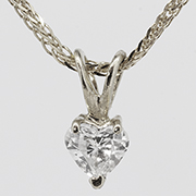 14K White Gold 0.25ct Diamond Pendant