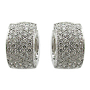 18K White Gold 1.60cttw Diamond Earrings