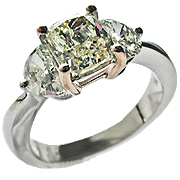 18K Two Tone 2.25cttw Diamond Ring