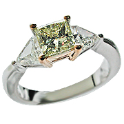 18K Two Tone 1.49cttw Diamond Ring