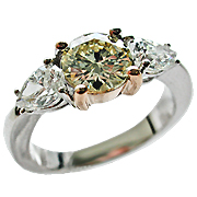 18K Two Tone 1.90cttw Diamond Ring