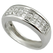 18K White Gold 1.40cttw Diamond Band