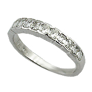 18K White Gold Band : 0.56 ct Diamonds