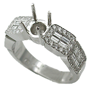 Platinum Multi Stone Setting : 0.90 cttw Diamonds