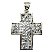 18K White Gold 3.20cttw Diamond Pendant